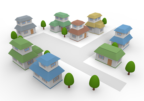 Residential area clipart.