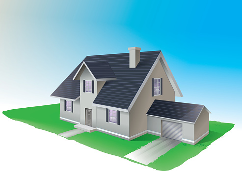 Residential Home Clipart.