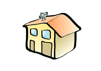 Free Clipart of Residential House Zazou.