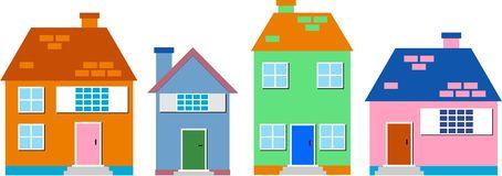 Residential Stock Illustrations.