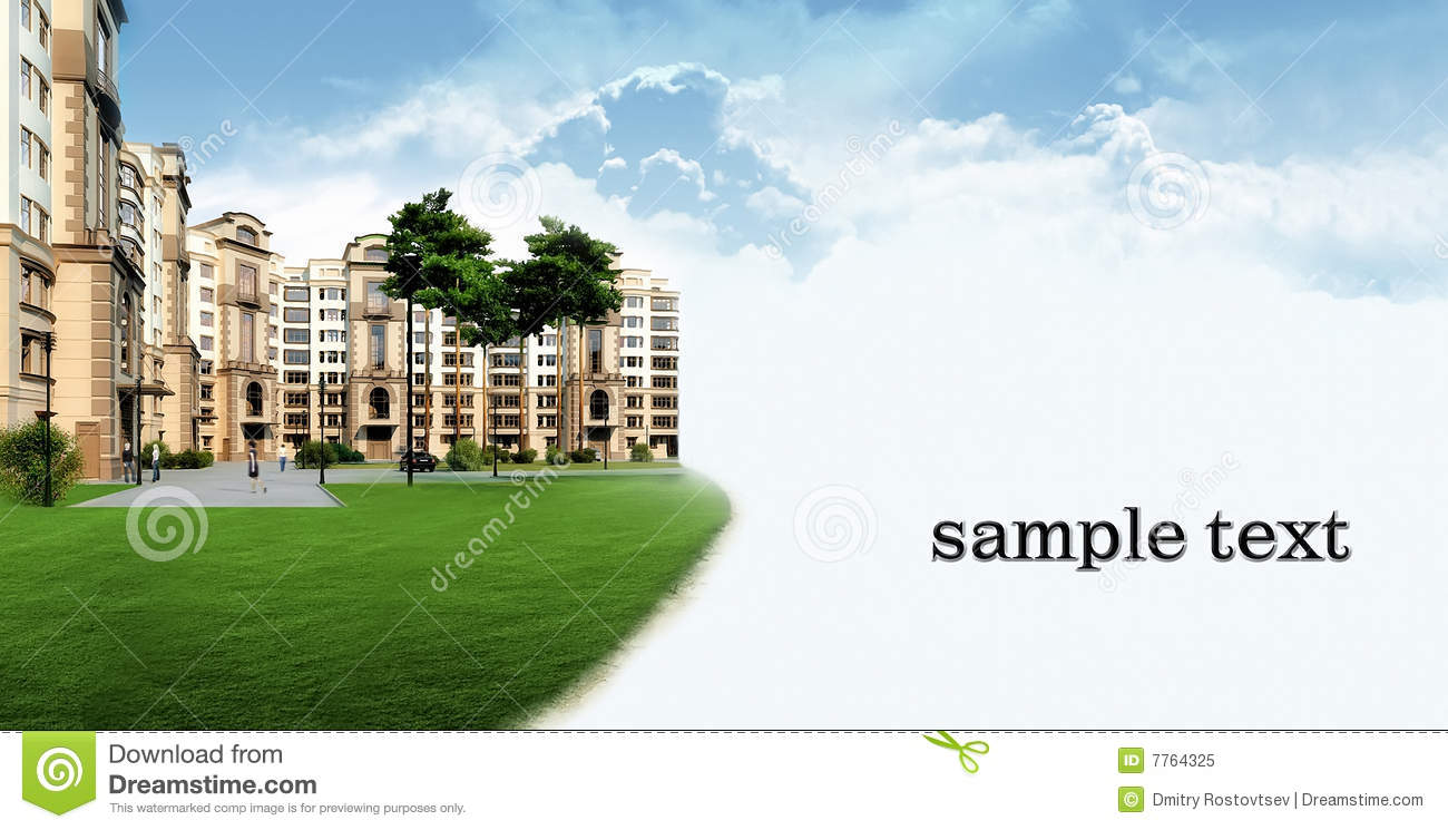 Residential Complex Stock Illustrations.