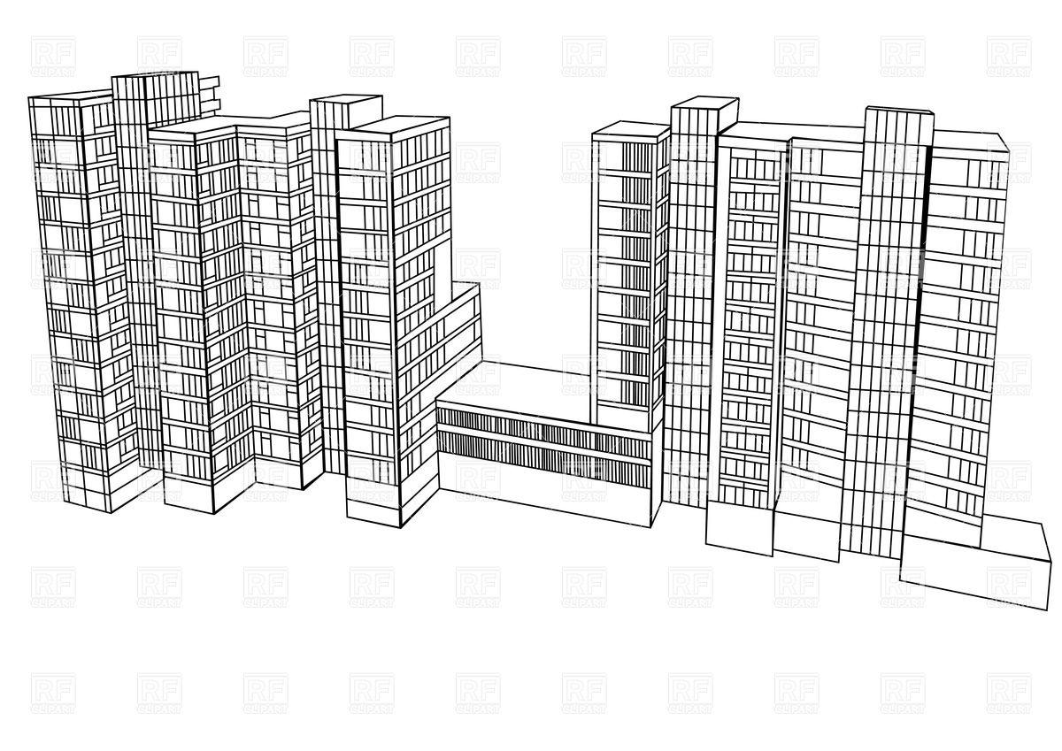 Scheme of a housing complex Vector Image #36756.