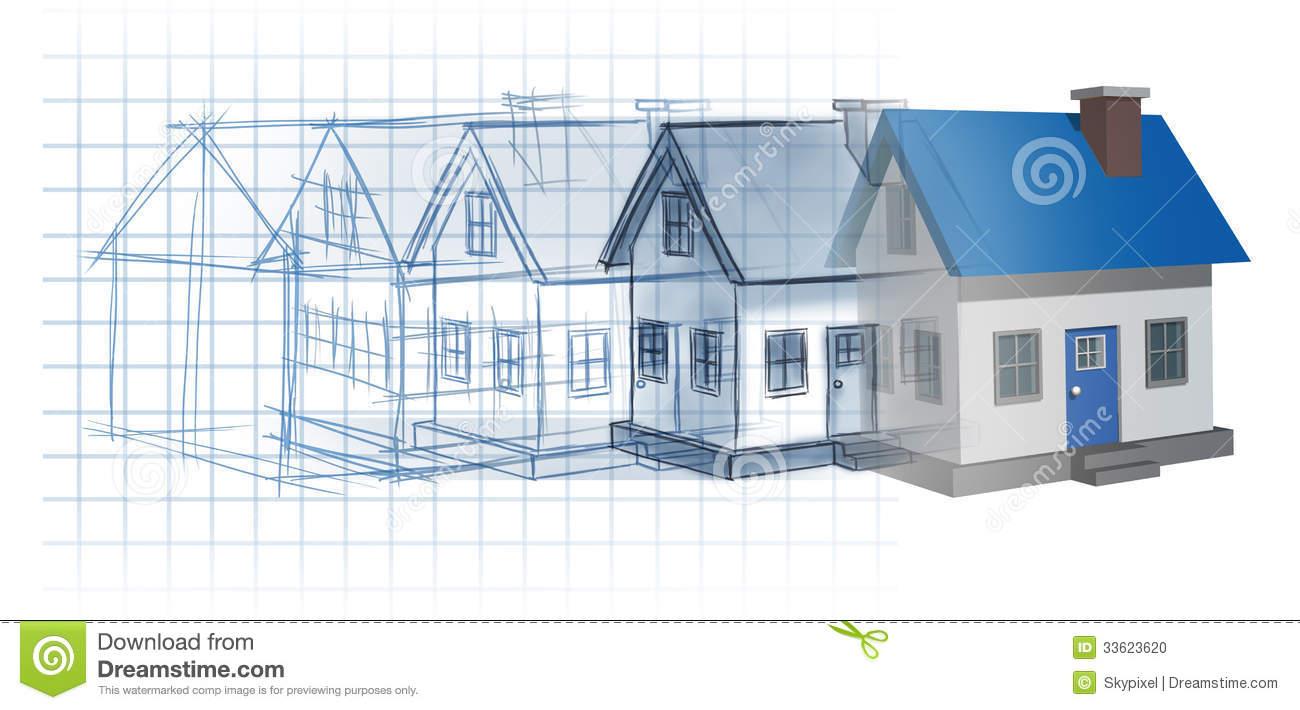 Residential Development Stock Image.