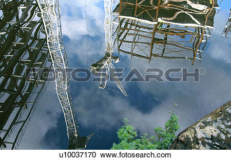 Stock Photography of Steel framework on a building site.