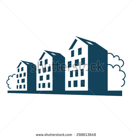 Vector Logo Group Apartment Houses Simple Stock Vector 289864535.