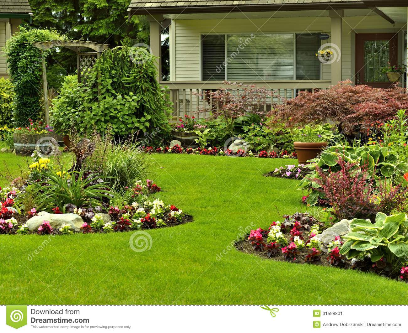 Residential Landscaping Clipart.