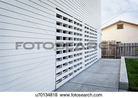 Pictures of Exterior view of residential structure, San Diego.