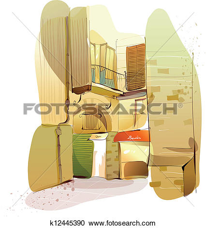 Clipart of Residential structure k12445390.