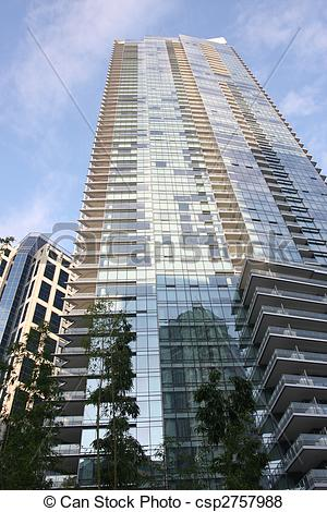 Pictures of Skyscraper High rise tower residential.