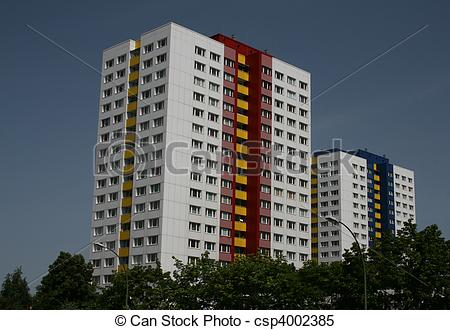 Stock Illustrations of Residential tower blocks in Berlin Germany.