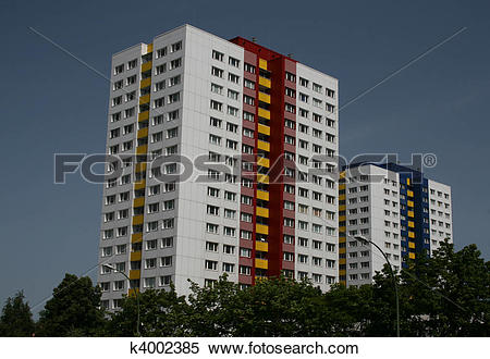 Stock Illustration of Residential tower blocks k4002385.
