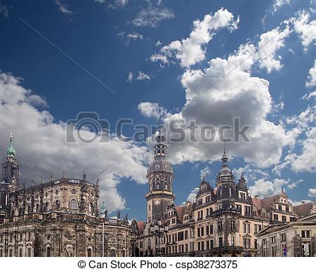 Bilder von Gebäude, hat, Sachsen, Palast, Dresden, deutschland.