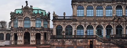 Residenzschloss (city Palace) In Dresden With Cloudy Sky Stock.