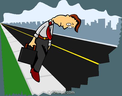 resignation Royalty Free Vector Clip Art illustration.