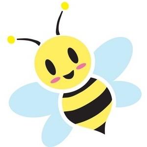 Honey Bee Clipart Image Sweet, cute cartoon honey bee buzzin.