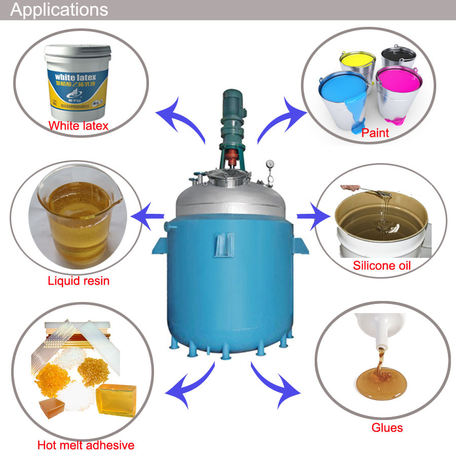 JCT New Chemical Resin Reactor Prices with China factory price.