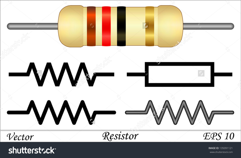 Resistor Stock Vector 135091121.