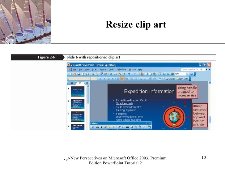 How to resize clipart in powerpoint.