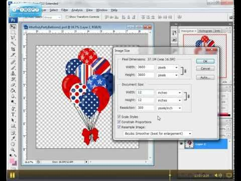 How to Resize Clip Art Images in Photoshop.