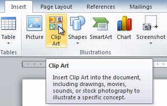 Resize clip art.