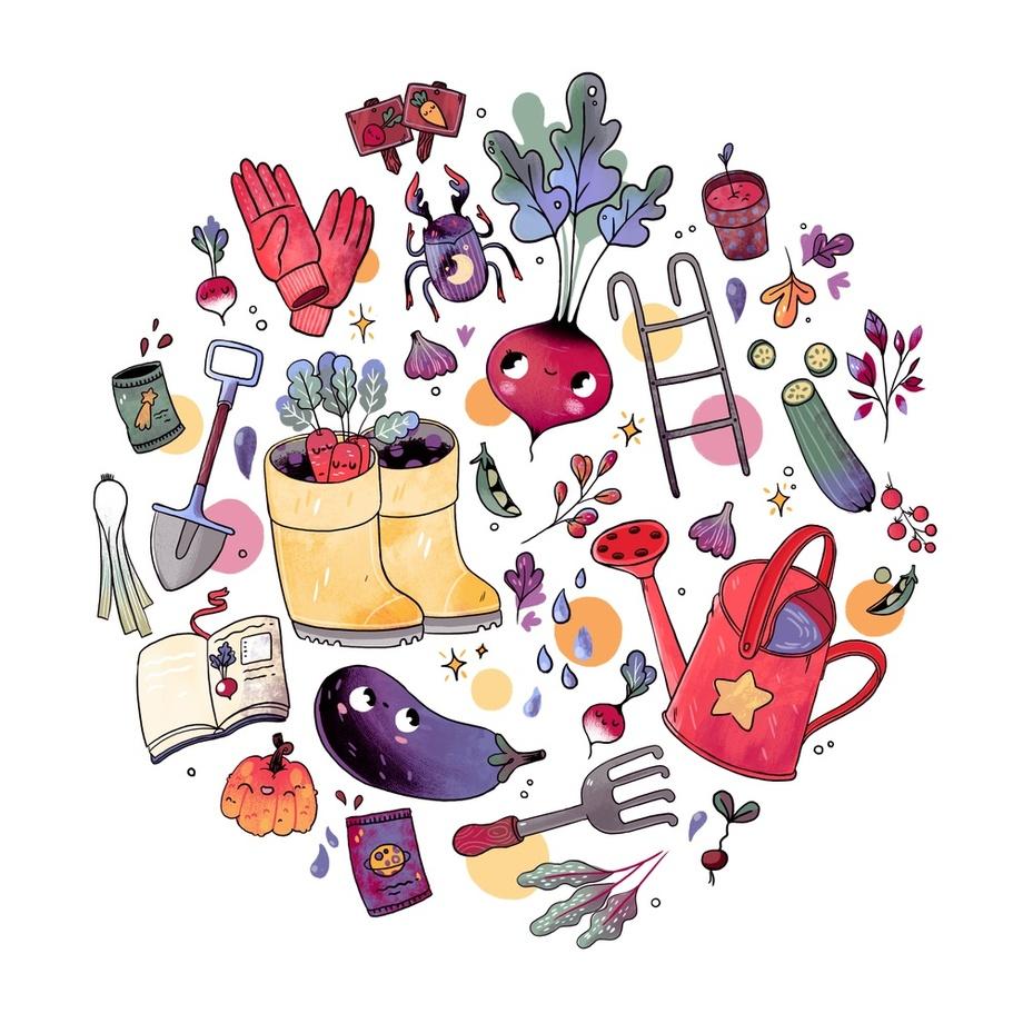 Magic Garden , an art print by Elena Resko.
