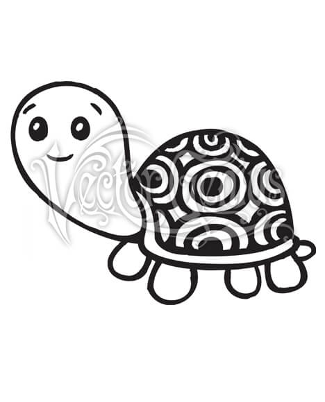 High Resolution Cartoon Cute Hand Drawn Turtle Shell Clip Art Stock Art.