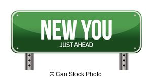 Clip Art Vector of sign announcing 'New Year's Resolutions.