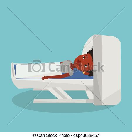 Clipart Vector of Magnetic resonance imaging vector illustration.