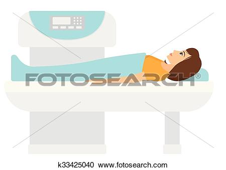 Clipart of Magnetic resonance imaging. k33425040.