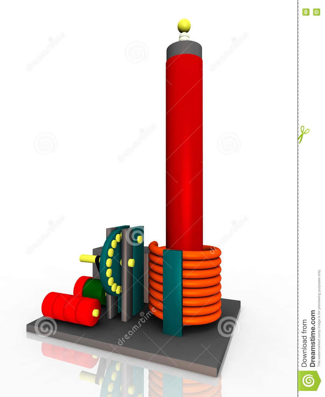 Resonant Transformer Circuit Stock Illustration.