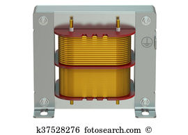 Electrical resonant transformer circuit Illustrations and Clip Art.