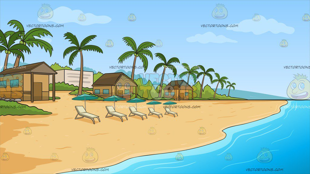 A Simple Beach Front Resort Background.