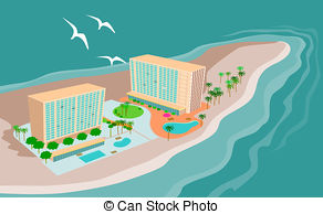 Island Beach Resort clip art.