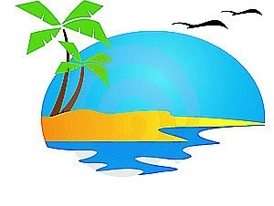 Beach resort clipart.