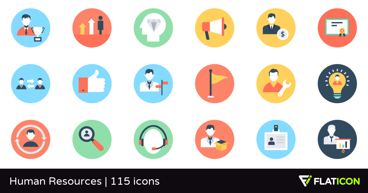 Human Resources 115 free icons (SVG, EPS, PSD, PNG files).