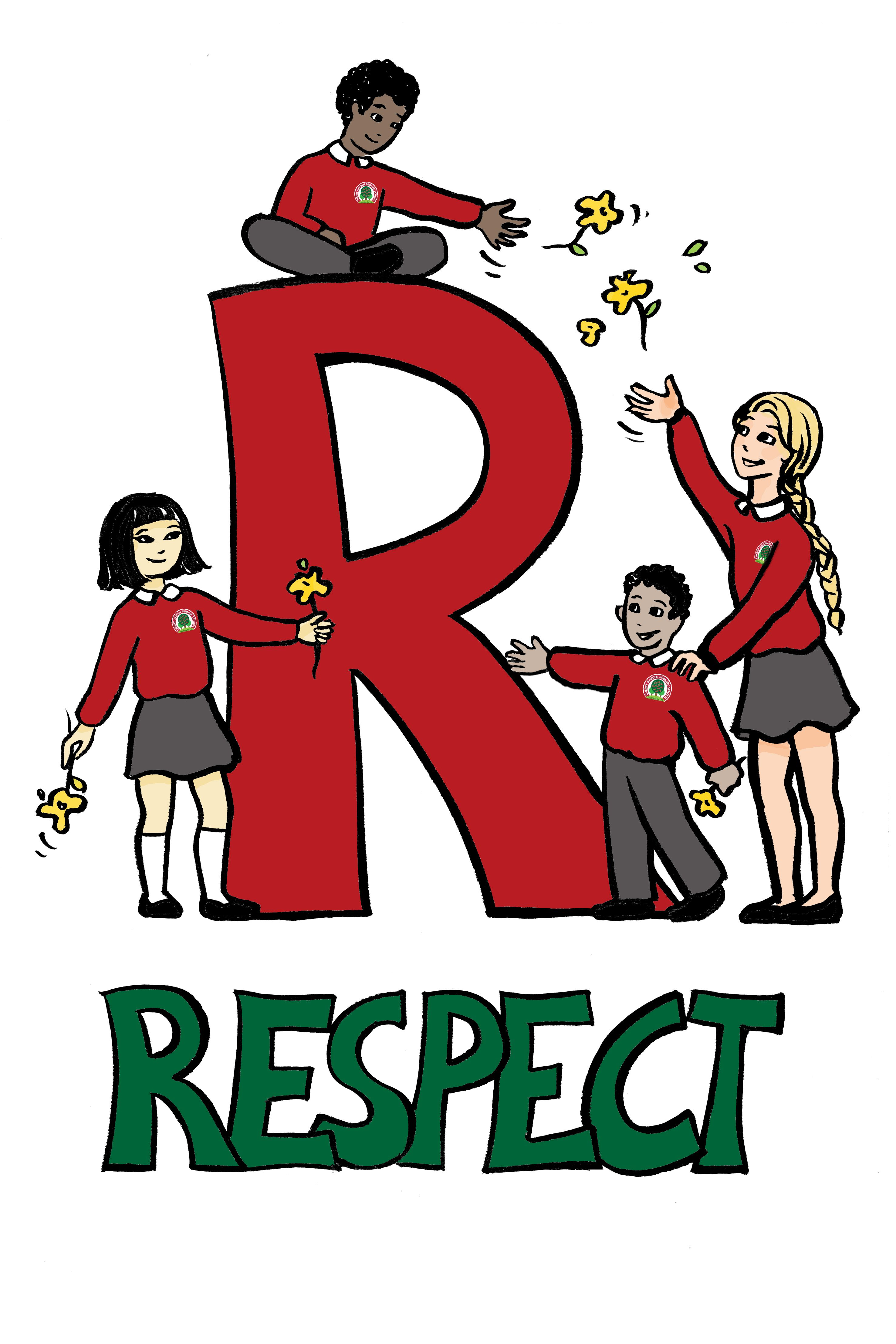 Showing Respect Clipart.
