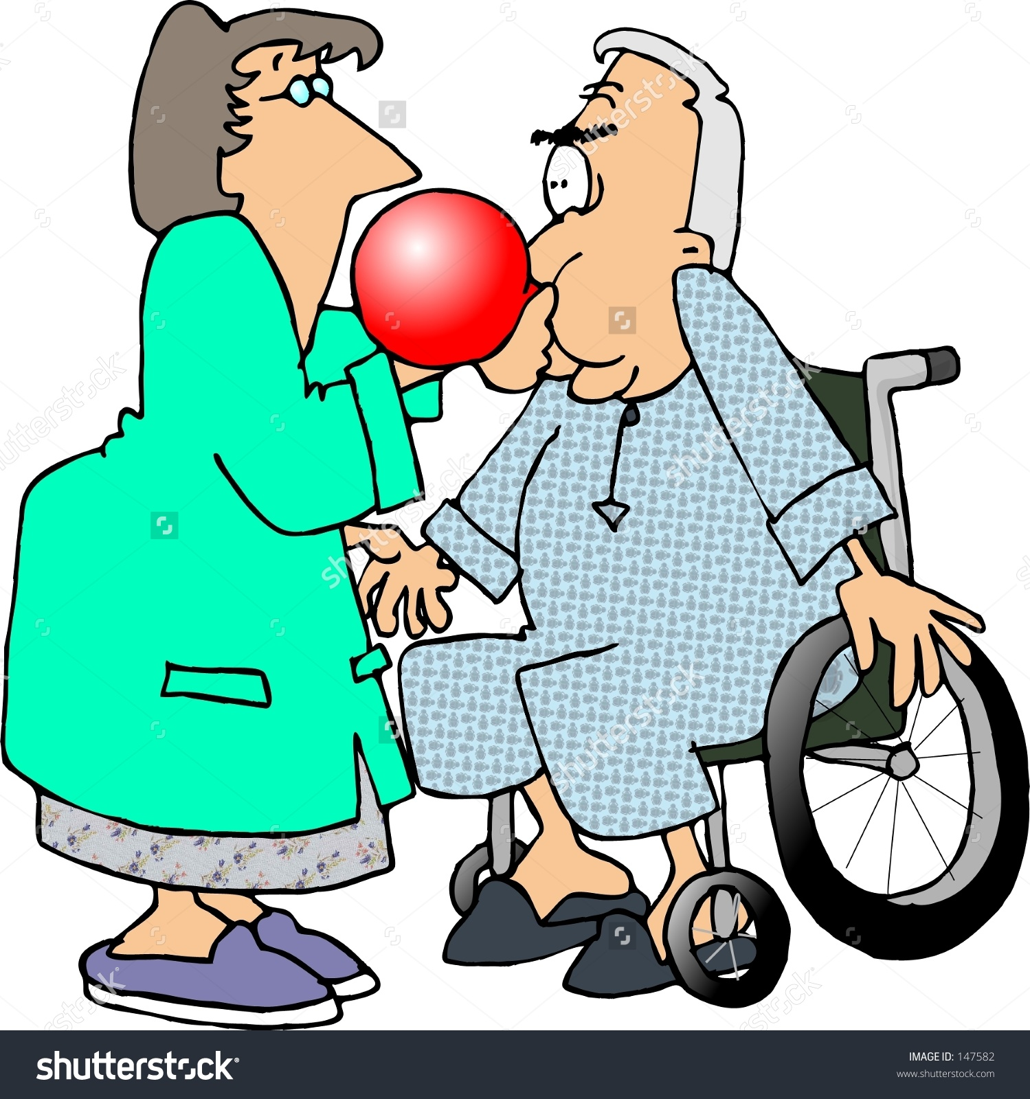 Clipart Illustration Respiratory Therapist Patient Stock.