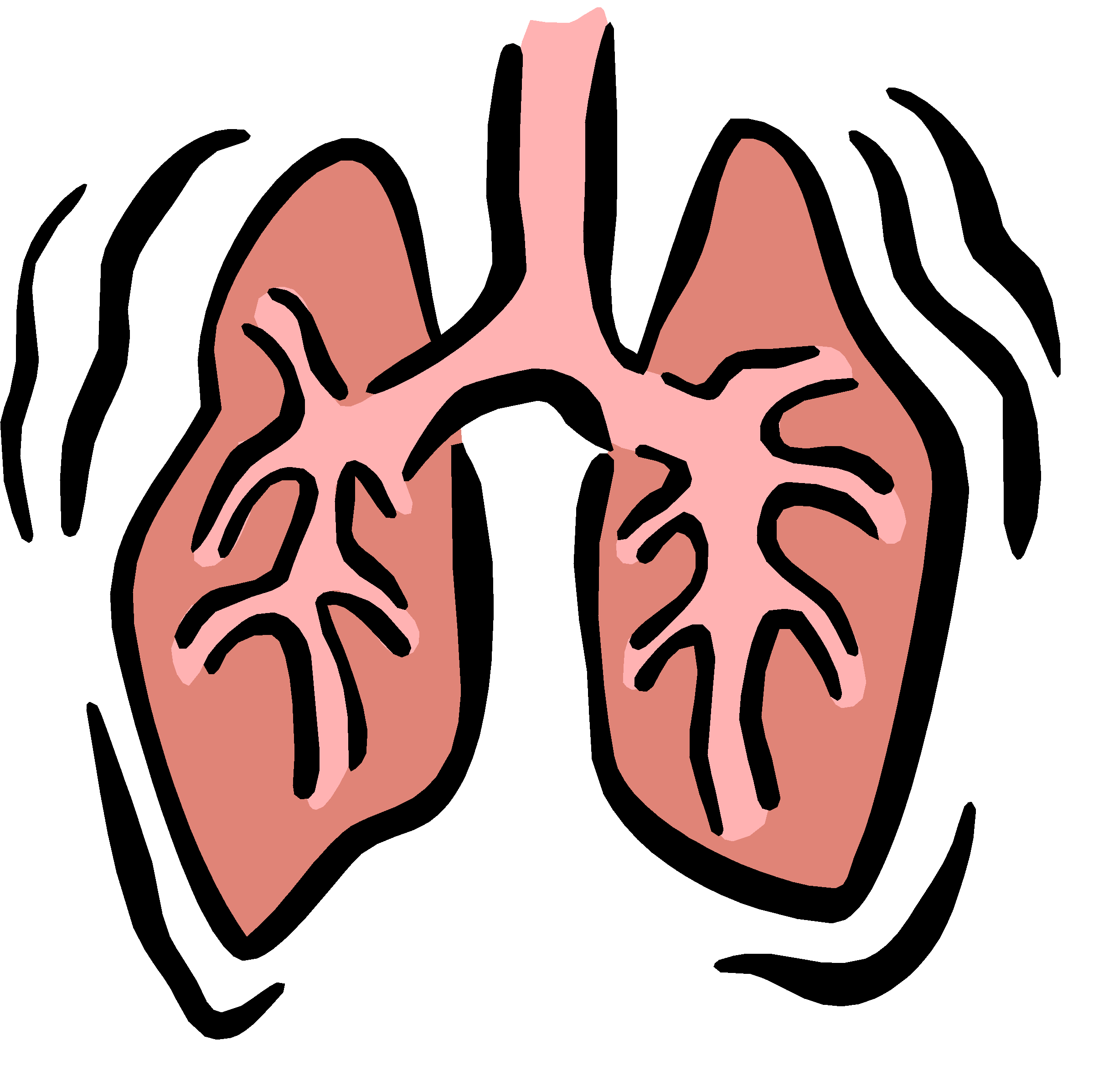 Respiratory Failure Clipart.