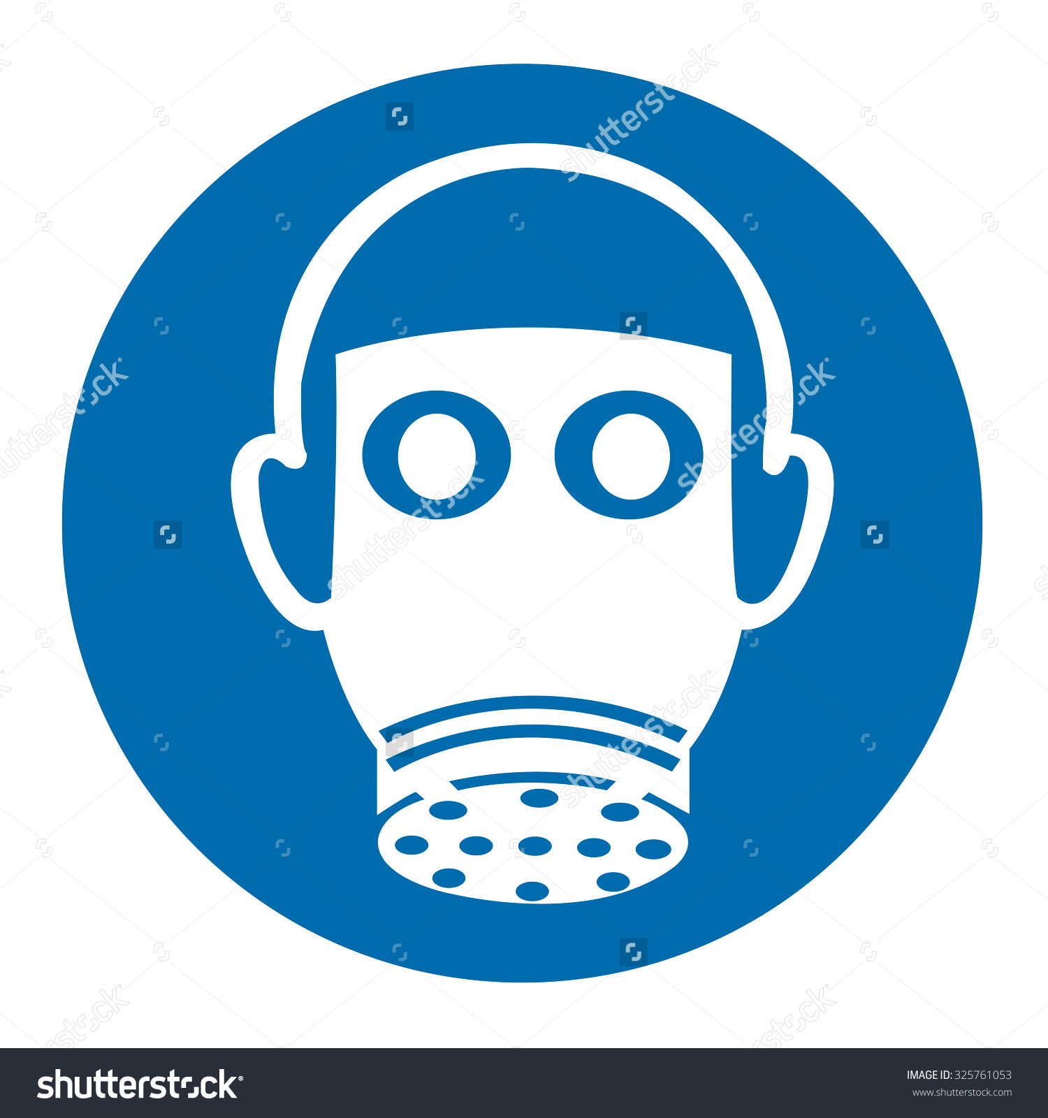 Wear Respiratory Protection Sign Stock Vector 325761053.