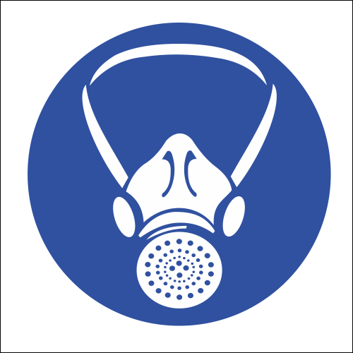 Respiratory Protection Safety Sign (MV2).