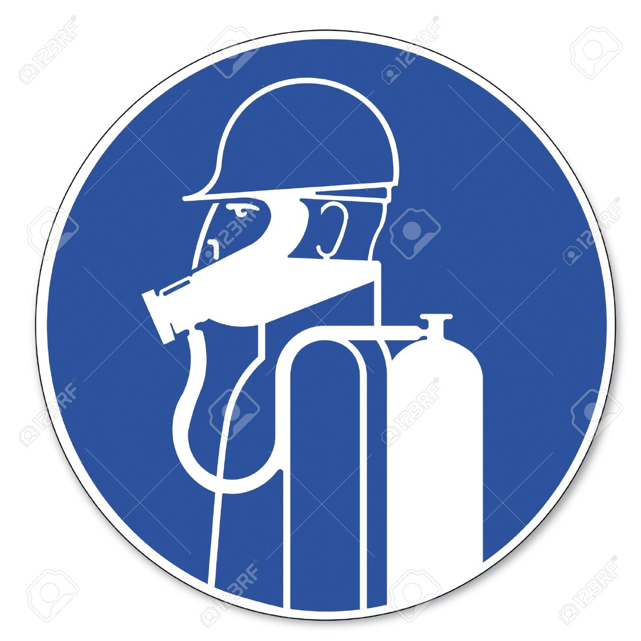 Commanded Sign Safety Sign Pictogram Occupational Safety Sign.
