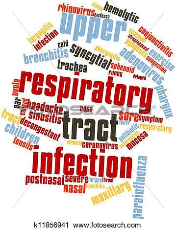 Clipart of Upper respiratory tract infection k11856941.