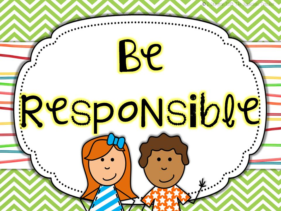 Student responsibility clipart.