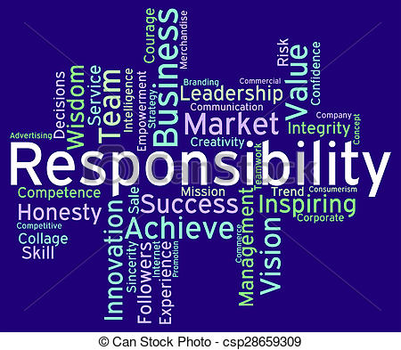 Responsibility words Stock Illustration Images. 1,904.