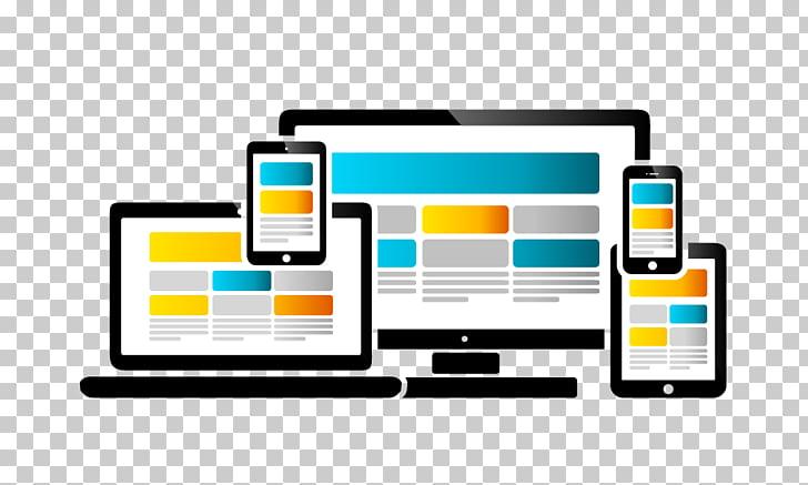 Responsive web design Website development, web design PNG.