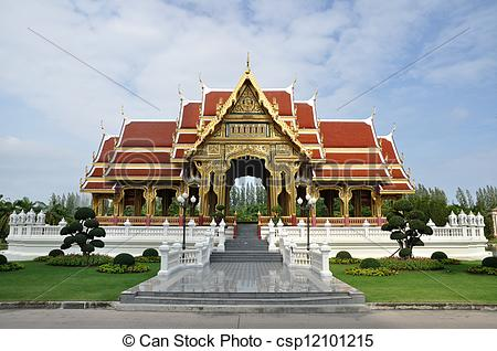 Stock Photography of Public rest house in Thailand.