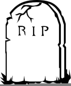 Rest In Peace Tombstone Clipart.