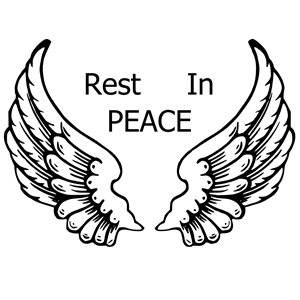 Rest in Peace Wings clipart, cliparts of Rest in Peace Wings.