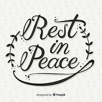Rest in peace lettering Vector.
