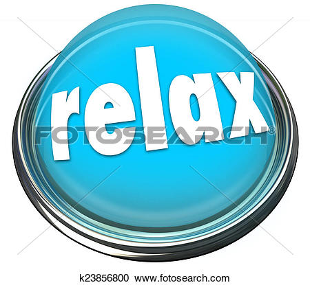 Stock Photography of Relax Calm Down Blue Button Light Cool Off.